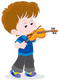 Little violinist — Stock Vector