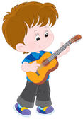 Little guitarist — Stock Vector