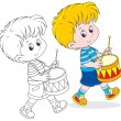 Little drummer — Stock Vector #37891421