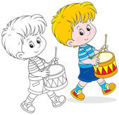 Little drummer — Stock Vector