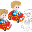 Boy driver — Stock Vector #38326219