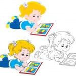 Girl reading — Stock Vector #38547865