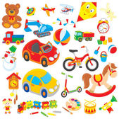 Zabawki — Wektor stockowy
