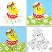 Easter Chick — Stock Vector