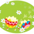Traces of Easter chick — Stock Vector #39031661
