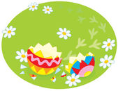 Traces of an Easter chick — Stock Vector
