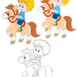 Little rider — Stock Vector #39250873
