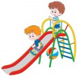 Kids on slide — Stock Vector #39465621