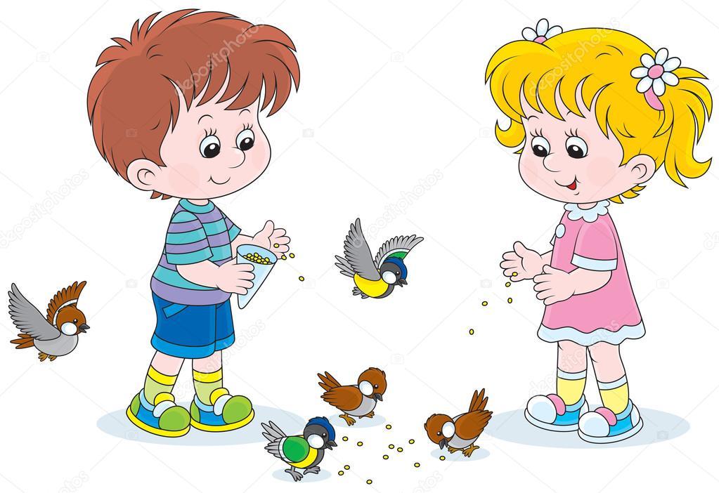 Красивые картинки детей анимации с маленькими девочками и
