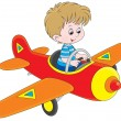 Boy pilot — Stock Vector #39857593
