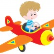 Stock Vector: Boy pilot