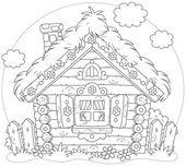 Log hut — Stock Vector