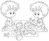 Boys playing — Stock Vector