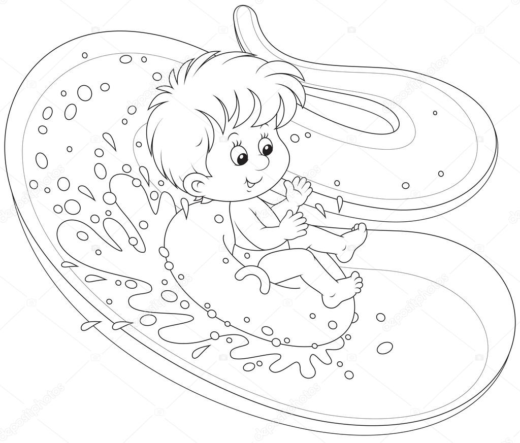 water slide coloring pages - photo#24