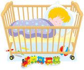 Child sleeping — Stock Vector