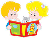 Children reading — Stock Vector