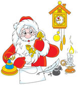 Santa Claus calling on the phone — Stock Vector