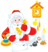Santa Claus calling on the phone — Stockvector