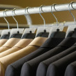 Stock Photo: Man's suit on th hanger