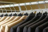 Man's suit on th hanger — Stock Photo
