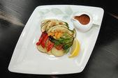 Restaurant menu: baked vegetable — Stock Photo