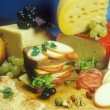 Still life of cheese — Stock Photo