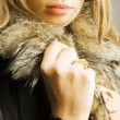 Woman in fur coat — Stock Photo #25565345