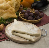 Cheburek- a mutton pie eaten in the Crimea and the Caucasus — Foto Stock