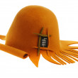 Orange lady's hat — Stock Photo
