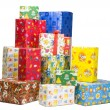 Piles of gifts — Stock Photo