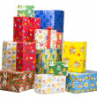 Piles of gifts — Stock Photo #26356213