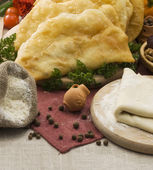 Cheburek- a mutton pie eaten in the Crimea and the Caucasus — Stock Photo