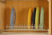 Shelves with tableware — Stock Photo