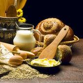 Still life of bread preparing — Stock Photo