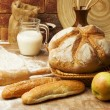 Stock Photo: Still life of bread preparing
