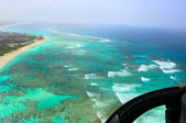 Dominican Republic helicopter view — Stock Photo