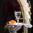 Stock Photo: Soft caviar and vodka