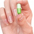 Pills in hand — Stock Photo