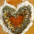 Stock Photo: Spice heart