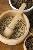 Spice still life: white pepper — Stock Photo