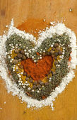 Spice heart — Stock Photo
