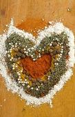 Spice heart — Stock Photo