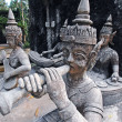 Stock Photo: Old culture thailand statue
