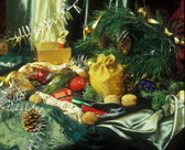 Christmass still life — Stock Photo