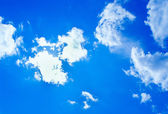 Blue sunny sky background — Stok fotoğraf