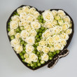Heart of roses — Stockfoto