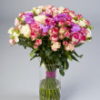 Stock Photo: Bouquet of orchid and roses