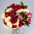 Colorful bouquet of chrysanthemums  — Stock Photo