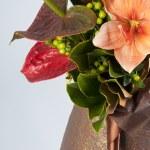 Beautiful bouquet of orange lilies — Stock Photo