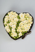 Heart of roses — Stock Photo